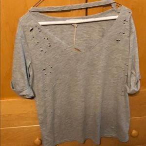 NEW WITH TAGS HONEY PUNCH GREY TOP